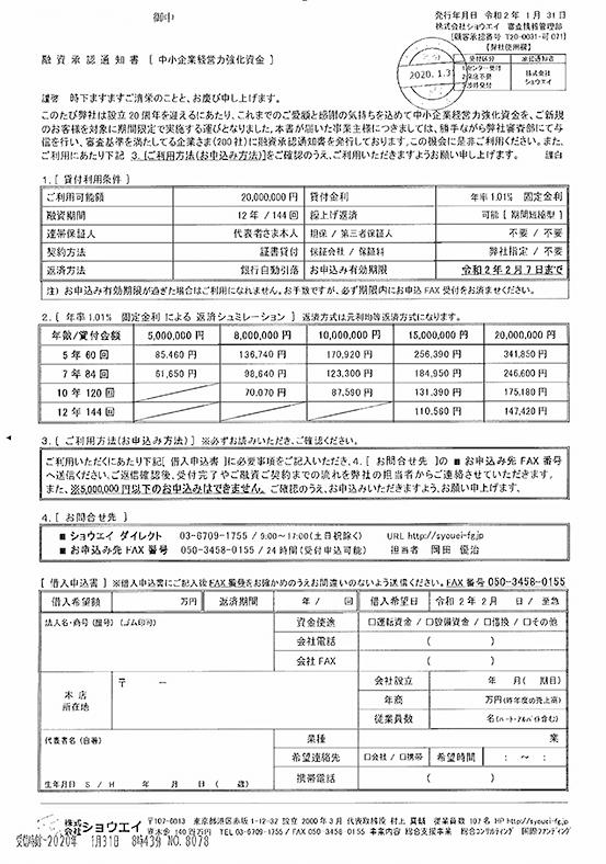 株式会社ショウエイ闇金